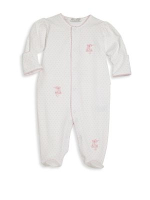 Baby's Ballet Slippers Pima Cotton Footie