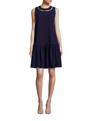 Oshima Scalloped Drop-Waist Dress