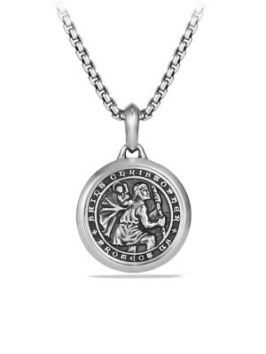 The Amulets Sterling Silver St. Christopher Amulet