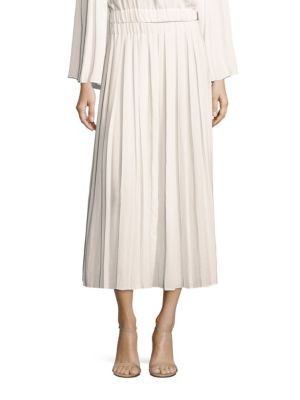 Quinn Pleated Midi Skirt