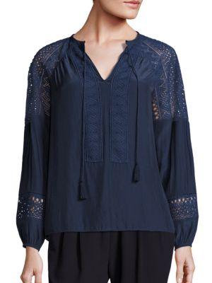 Whitney Crochet Detailed Top