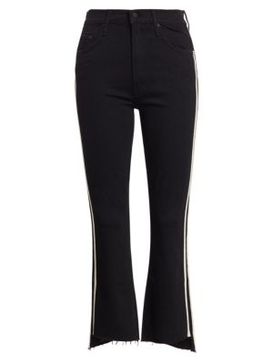 The Insider High-Rise Crop Step Fray Guilty Racer Stripe Jeans