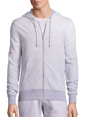 michael kors male 124781 ombre textured hoodie