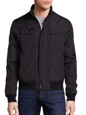 michael kors male solid woolblend hybrid jacket