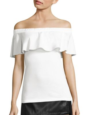 Off-The-Shoulder Tie-Back Cotton Top by NO. 21