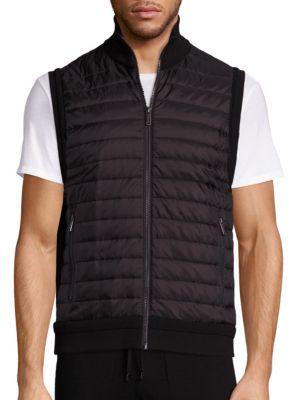 michael kors male padded front vest