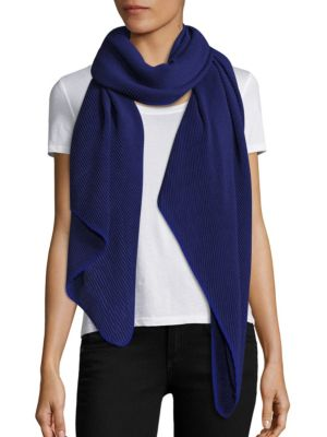 Knitted Plisse Scarf