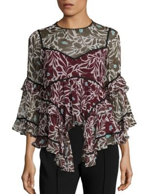 Floral Melodie Silk Top