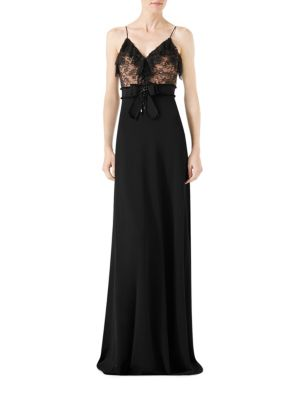 Viscose Jersey & Lace Gown