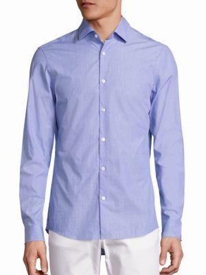 michael kors male slimfit cowan buttondown shirt