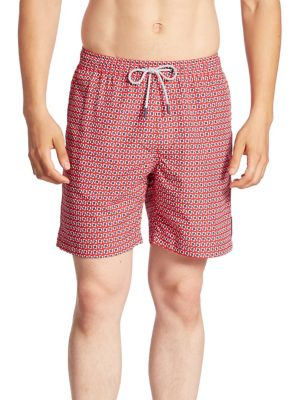 michael kors male geo swim trunks