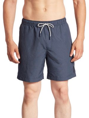 michael kors male pin dotted swim trunks
