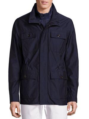 michael kors male hybrid field woolblend jacket