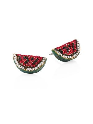 marc jacobs female watermelon crystal stud earrings