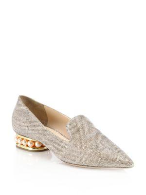 Casati Pearly Heel Lurex Loafers by Nicholas Kirkwood