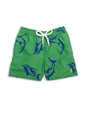 Baby's Shark-Print Swim Trunks