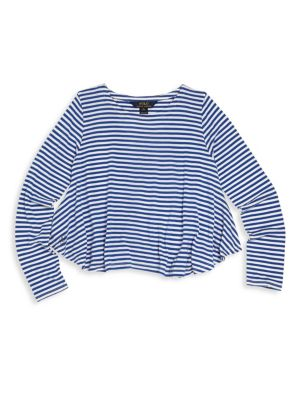 Toddler's, Little Girl's & Girl's Striped Tee