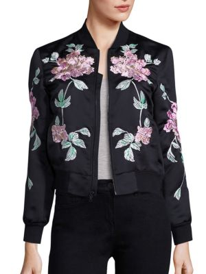 WJ Satin Collection Floral Embroidered Jacket