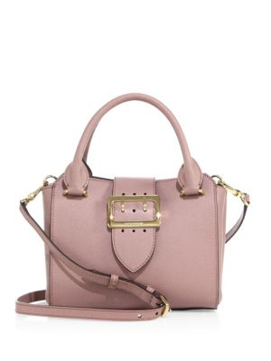 Small Buckle Leather Tote