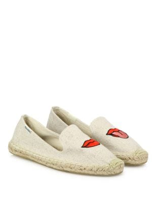Lips Canvas Espadrille Flats