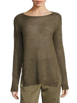 Linen Boatneck Sweater