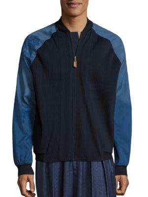 Handcrafted Merino Wool Bomber Jacket