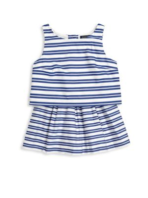 Toddler's, Little Girl's & Girl's Two-Piece Striped Top & Skirt Set