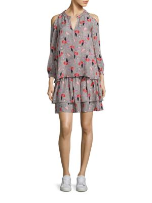 Two-Piece Cold-Shoulder Silk Top & Dress