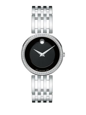 Esperanza Diamond & Stainless Steel Bracelet Watch