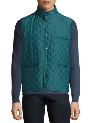 Reversible Quilted Leather Vest