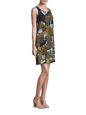 Palmer Floral Cloque Shift Dress