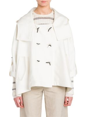 Hooded Double Breasted Jacket
