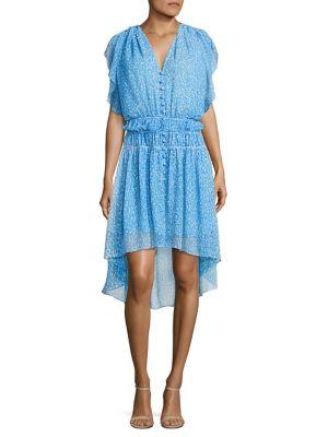 Camellia Printed Ruffled Dress