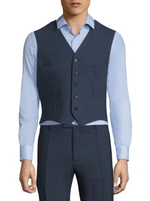 COLLECTION Colorblock Single-Breasted Vest