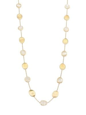 """Lunaria Mother-Of-Pearl & 18K Yellow Gold Long Necklace/36"""""""