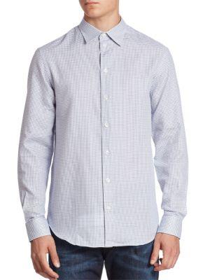 3D Neat Button-Down Shirt