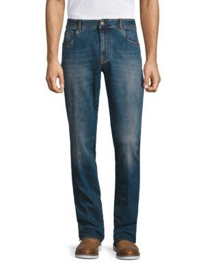 Regular-Fit Washed Jeans