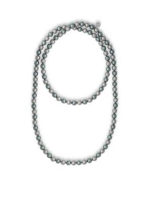 """Endless 8MM Organic Pearl Strand Necklace/48"""""""