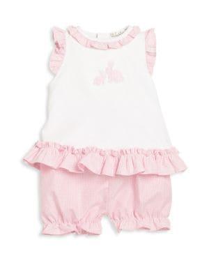 Baby's Ruffled Top & Shorts Set