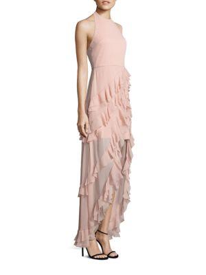 Carma Ruffle Hi-Lo Gown