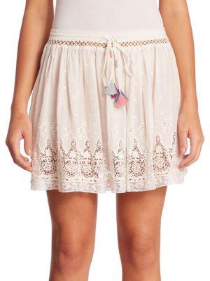 Phoebe Cotton Lace Trim Skirt