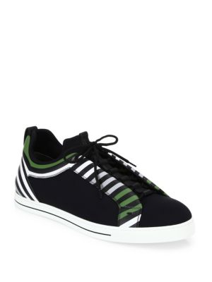 Neoprene Lace-Up Sneakers