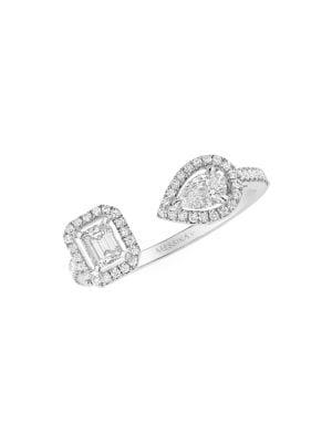 MESSIKA My Twin Toi & Moi Small Diamond & 18K White Gold Ring
