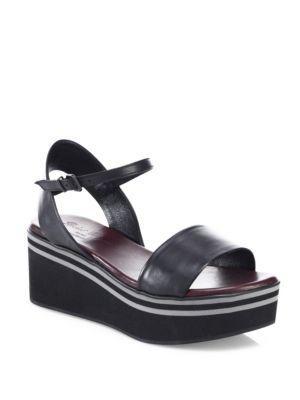 Piel Leather Flatform Sandals
