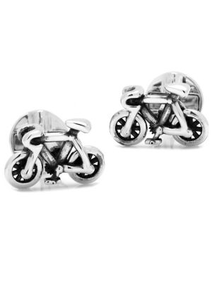 Silvertone Moving Parts Bicycle Cuff Links
