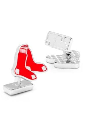 MLB Silvertone Boston Red Sox Cuff Links