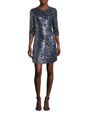 Petra Sequined Silk Dress