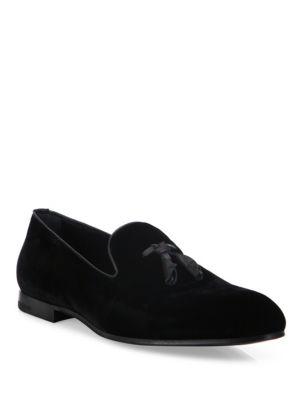 Velvet Slip-On Dress Shoes