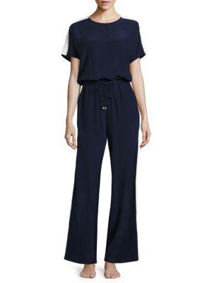 Colorblock Silk Jumpsuit