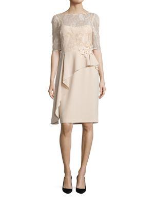 Asymmetrical Peplum Sheath Dress